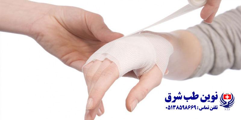 درمان انواع زخم ها