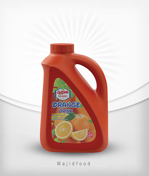 bآذین مجید شربت پرتقال 2لیتری